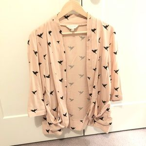 I Love H81 Light Baby Pink Open Front Blazer